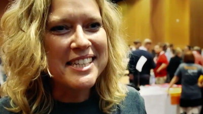 Interview with woman at convention