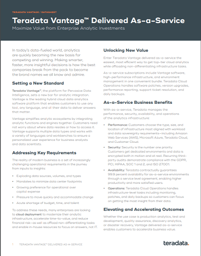 Vantage on Microsoft Azure Download Datasheet