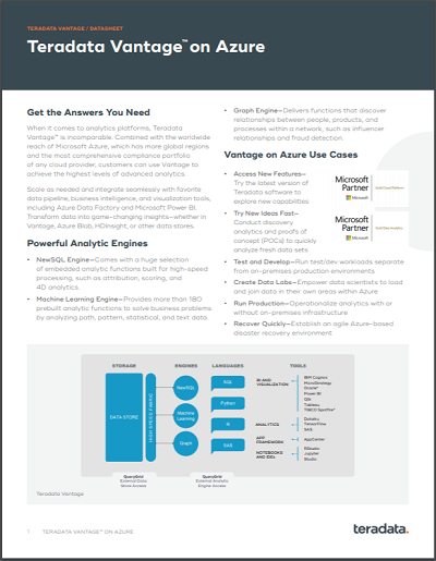 Vantage on Azure Datasheet