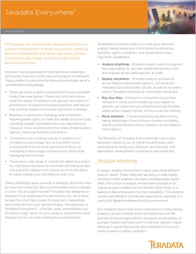 Teradata Everywhere Executive Brief