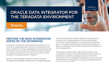 Oracle Data Integrator for the Teradata Environment