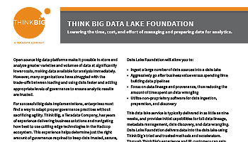 Data Lake Foundation: Lowering the time, cost, and effort of managing and preparing data for analytics