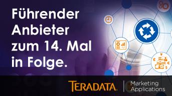 Gartner nennt Teradata als führenden Anbieter für Marketing Resource Management Anwendungen